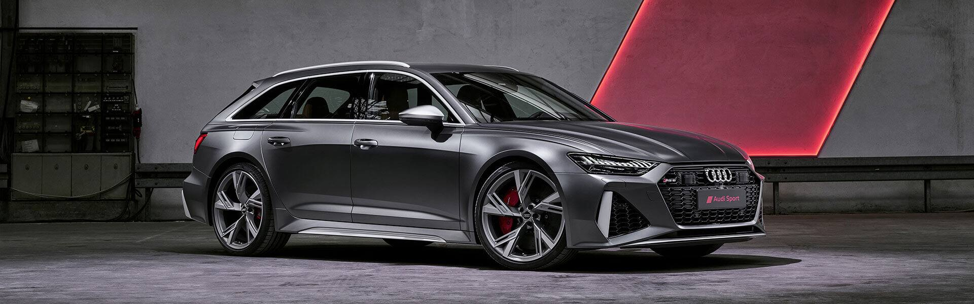 Audi RS 6 Avant 2020 in garage with rombus